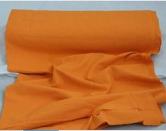 Plain orange color curtain material fabric contemporary upholstery fabric