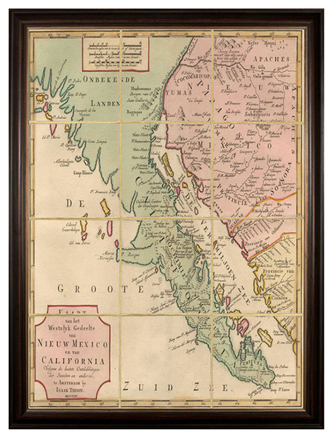 ... California Map Large Wall Art - Framed transitional-prints-and-posters
