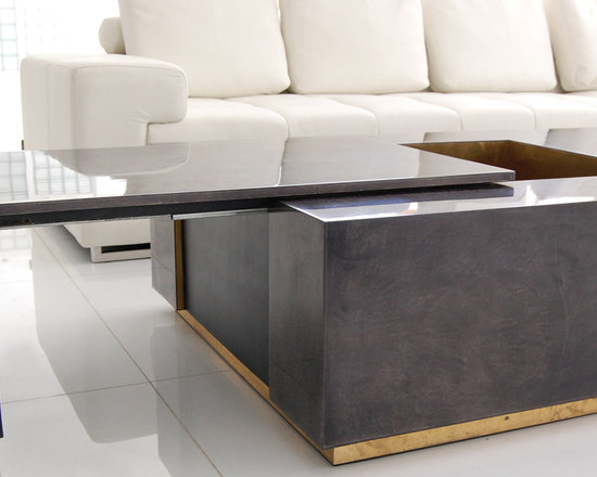 SCALA LUXURY - CADILLAC COFFEE TABLE GOAT CHARCOL
