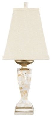 CBK 90726 Mother of Pearl Accent Lamps-Set of 2 modern-table-lamps