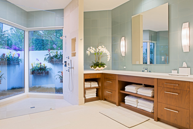 Modern Tropical Residential Renovation Modern Bathroom Miami By Lorrie Browne Interiors
