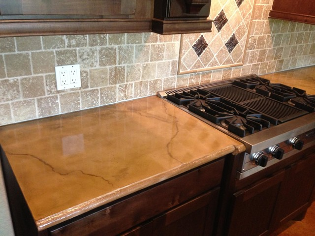 Colored and Stained Concrete Countertop - Rustic - houston - by SureCrete Design Products