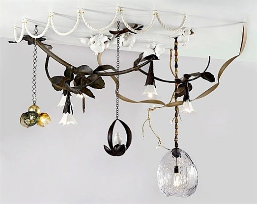 Collage Chandelier by David Wiseman modern ceiling lighting