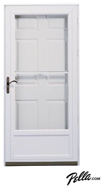 Door Storee Pella Self Storing Storm Door