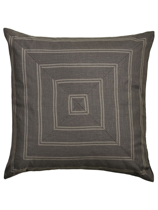 """Mystic Valley Traders Park Avenue - Euro Sham B - The Park Avenue Euro sham B is fashioned from the Brooks fabric on each side, mitred on front and railroaded on reverse, and finished with a clean edge; sold flat (without fills); 26""""x26""""."""