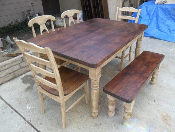 Dining Set From Reclaimed Wood By Old Pine Transitional Dining