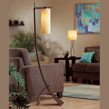 Hubbardton Forge | Stasis Floor Lamp with Glass modern-floor-lamps