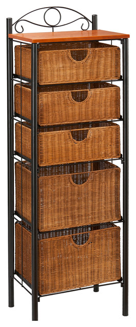 Argyle Iron Wicker, Five Drawer Unit - Contemporary - by Shop Chimney