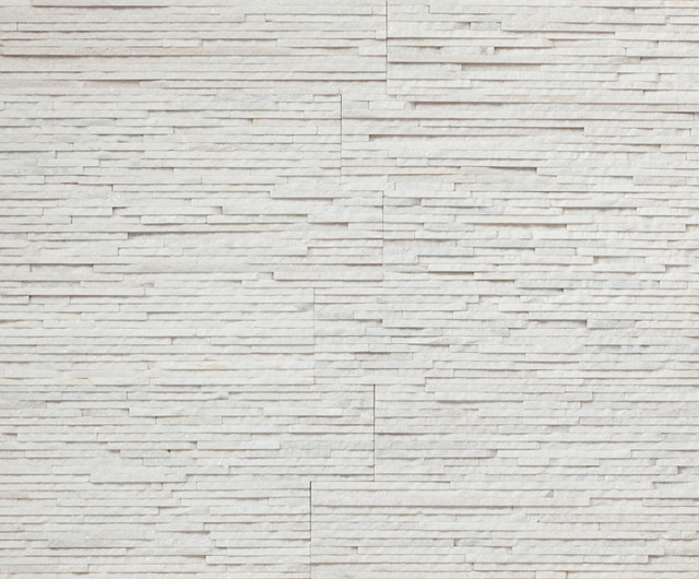 Realstone Systems Thin Arctic White Angled Wall Cladding