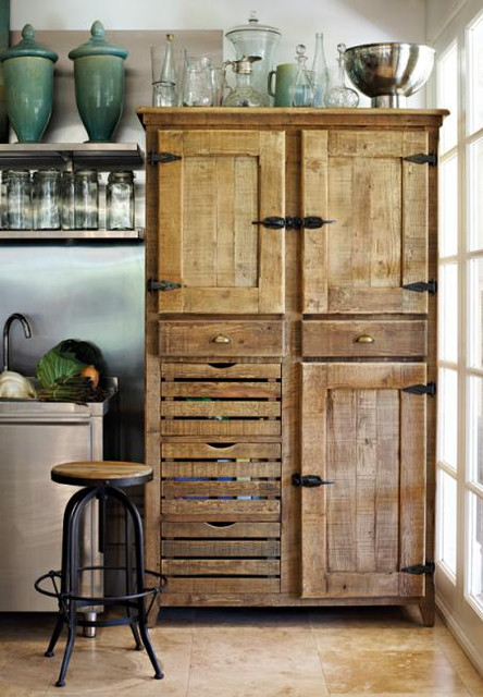 York Pantry Cupboard - Traditional - Pantry Cabinets - by Block & Chisel