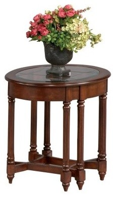 Progressive Furniture Oval End Table - Dark Berry modern-side-tables-and-end-tables