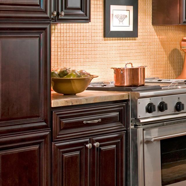 Beach Dark Chocolate Kitchen Cabinets traditional kitchen cabinets