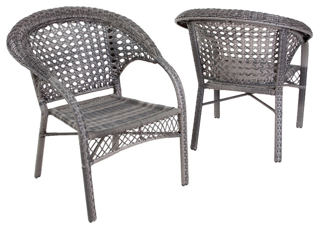 Kadelyn Outdoor 5pc Grey Wicker Dining Set Gdf Studio  : contemporary outdoor chairs from 50han.com size 640 x 460 jpeg 83kB