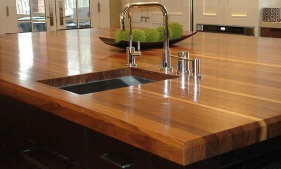 Walnut Countertop With Sink Kitchen Countertops