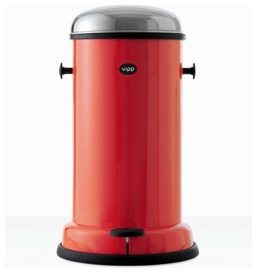 Rising Red 15 4-Gallon Pedal Bin - Modern - Trash Cans - by Vipp