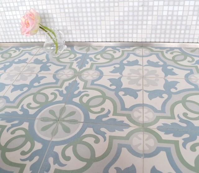 Sabine Hill Cement Encaustic Tile Mediterranean Tile