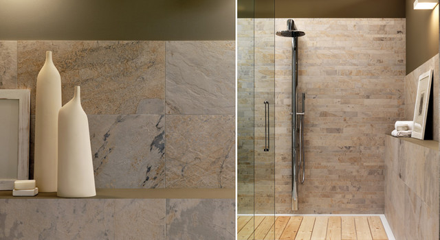 Eleganza Tiles Digislate Rustic Porcelain Tile mediterranean bathroom tile