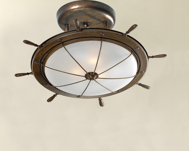 Nautical lighting beach style ceiling lighting new york by go nautical collections - Beach themed ceiling fan ...
