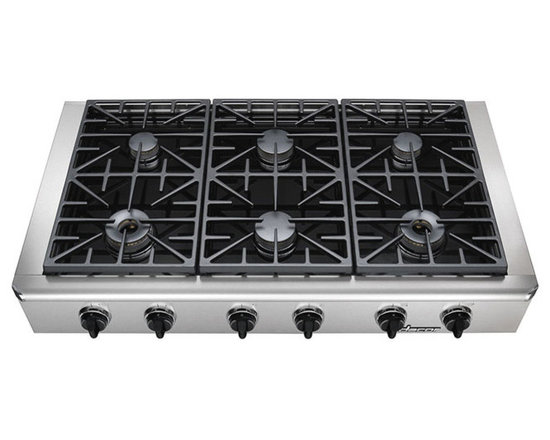 """Dacor Discovery 48"""" Gas Rangetop, Stainless Steel Natural Gas   EG486SCHNGH -"""
