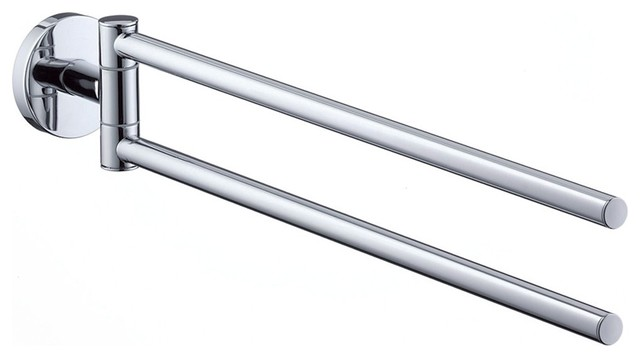 Hansgrohe-40512000 E and S Accessories Dual Towel Bar in Chrome contemporary-towel-bars-and-hooks