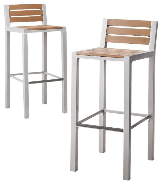 Threshold Bryant Faux Wood Patio 2 Piece Bar Stool