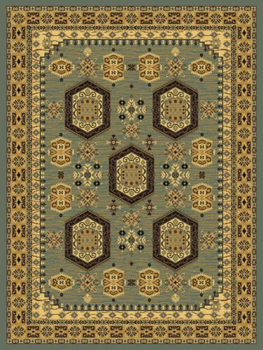 "United Weavers of America Savannah Davenport Blue 7'10"" x 10'6"" Area Rugs modern-rugs"