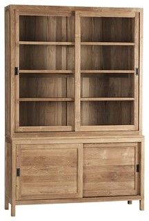 Pacifica Buffet/Hutch Top - Eclectic - China Cabinets And Hutches - other metro - by Crate&Barrel