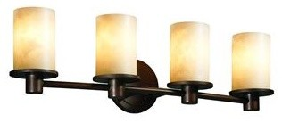 Justice Design CLD-8514-10-DBRZ Rondo 4-Light Bath Bar Clouds Collection bathroom-lighting-and-vanity-lighting