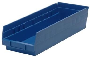 Quantum Economy Shelf Bins - 17.875W x 4.125D x 4H in. modern-garage-and-tool-storage