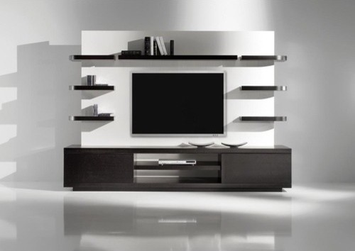 Yuman Mod Vision 1 Entertainment Center - modern - media storage ...