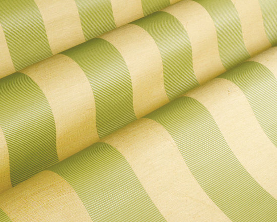 Antwerp Upholstery in Spring - Antwerp Upholstery in Spring Green and Beige.  A European designed, wide striped fabric that is ideal for re-upholstery projects such as  sofas, chairs, benches and more.  A great value for a classic, quality fabric.