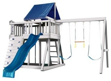 Congo Monkey Playsystem #1 with Swing Beam modern-outdoor-swingsets