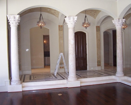 Installations - Sugar Land- Temple of the winds marble columns