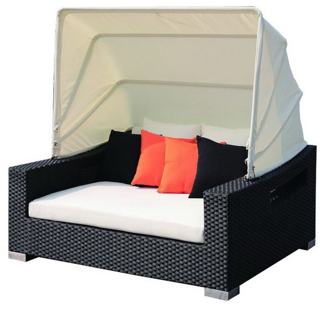 Patio day bed with canopy contemporary outdoor sofas Outdoor daybed with canopy