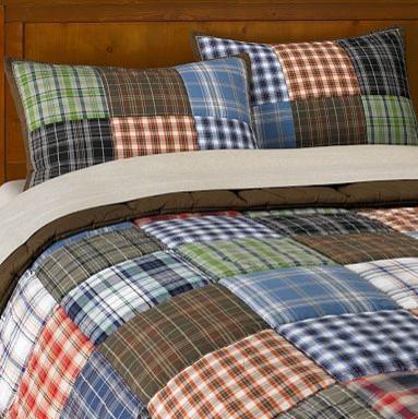 patch plaid quilt sham contemporary kids bedding