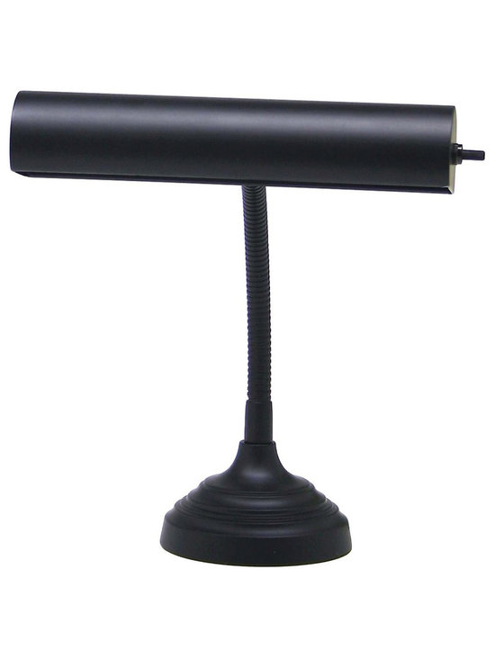 """House of Troy Advent 10"""" Piano Desk Lamp in Black Finish - House of Troy Advent 10"""" Black Piano/Desk Lamp. Features Switch on Shade. For more than 40 years, House of Troy has handcrafted Desk Lamps, Piano Lamps and Picture Lights in the great state of Vermont. House of Troy's reputation for craftsmanship, quality materials, and customer service make these items a value unsurpassed in the lighting industry."""