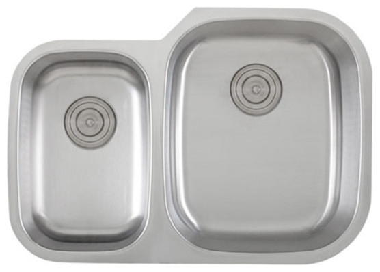 30 Inch Stainless Steel Undermount 40/60 Double Bowl Kitchen Sink - 18 ...