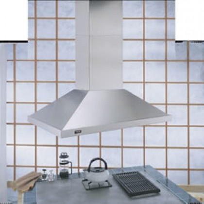 """IS4290X130CMCP 51"""" Island Chimney Hood with 1 000 CFM Internal Blower  Multi-Spe contemporary-range-hoods-and-vents"""