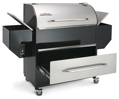 Deluxe Pellet Barbeque modern-outdoor-grills