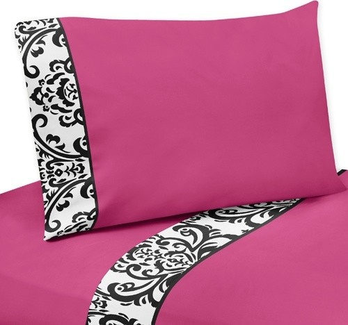 Isabella Pink 4-Piece Queen Sheet Set by Sweet Jojo Designs traditional-sheets