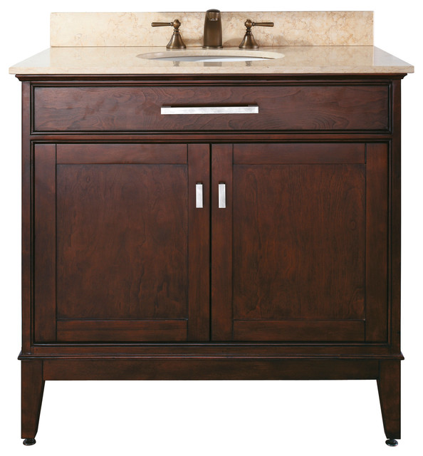 Madison 36 inch Vanity bo contemporary bathroom vanities and sink consoles