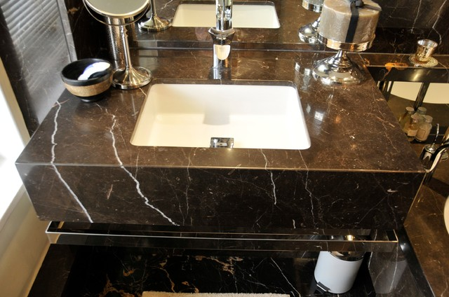 Marble Bathroom Orset Contemporary Bathroom Vanities And Sink Consoles Other Metro By