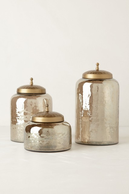 Mercury Moss Canister Contemporary Bathroom Canisters By Anthropologie