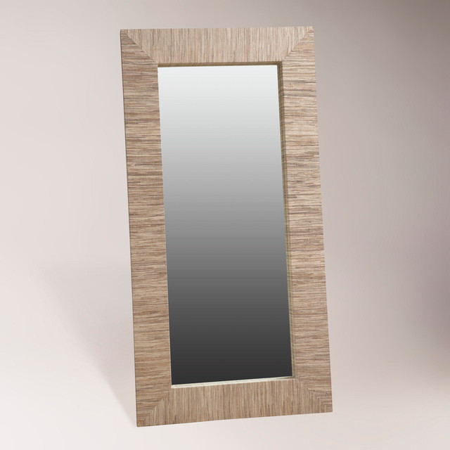 Water hyacinth mirror oversized contemporary wall for Oversized mirror