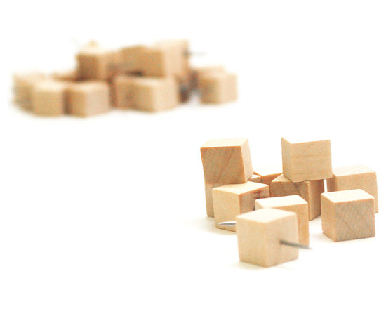 Cubed - The Push Pins - Even the smallest details can make an impact on your workspace.  Give yours a modern vibe with help from cubed - the push pins, perfect to pin your papers and notes in minimalist style with their smart, wooden cube design. Sold in packs of 10.