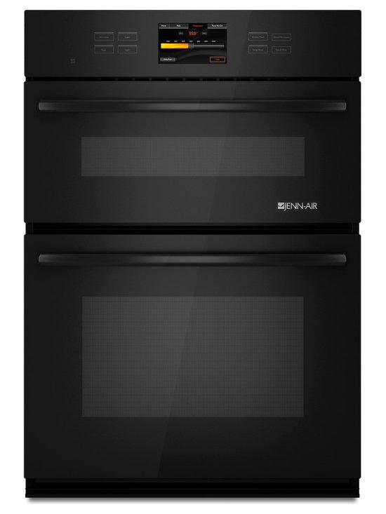 "Jenn-Air 30"" Combination Oven, Black On Black | JMW3430WB - 4.5 CU FT OVEN CAPACITY"