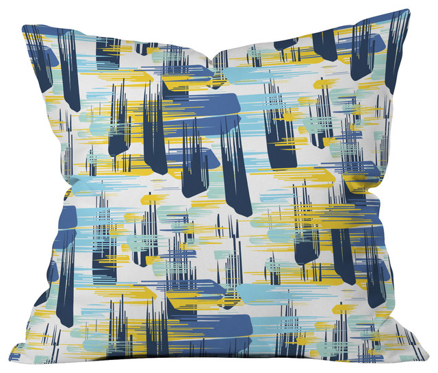 Zoe Wodarz Indigo Ikat Throw Pillow contemporary-decorative-pillows