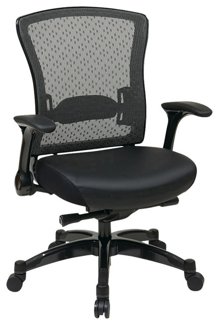 Space Seating 317 Series Executive Breathable Mesh Back Chair with Flip Arms traditional-office-chairs