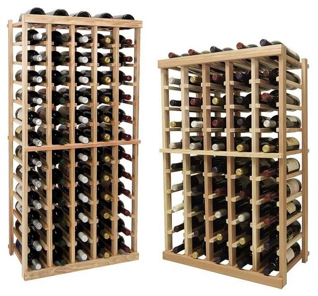 Vintner Series Wine Rack - Individual Bottle Wine Rack - 4 Columns with Display traditional-wine-racks