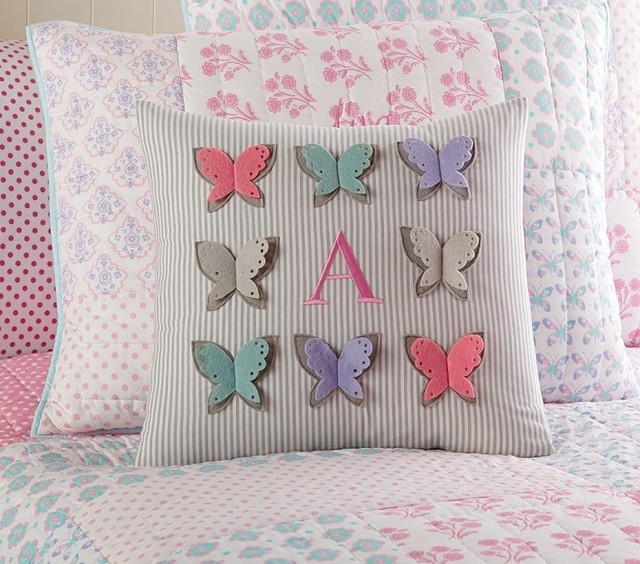 Pottery Barn Decorative Bed Pillows : Butterfly Decorative Sham - Pillowcases And Shams - san francisco - by Pottery Barn Kids